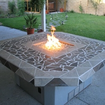 glass fire pit