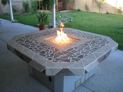 Glass Feature Fire Pit